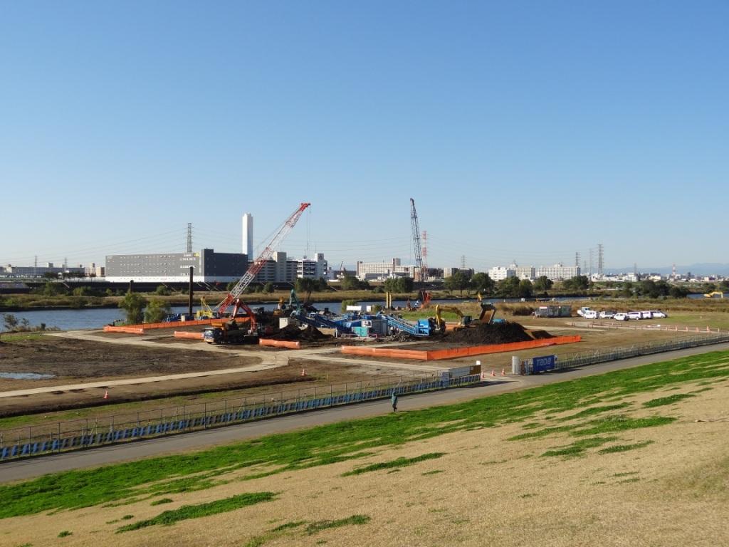 荒川下流左岸土砂改良工事 イメージ