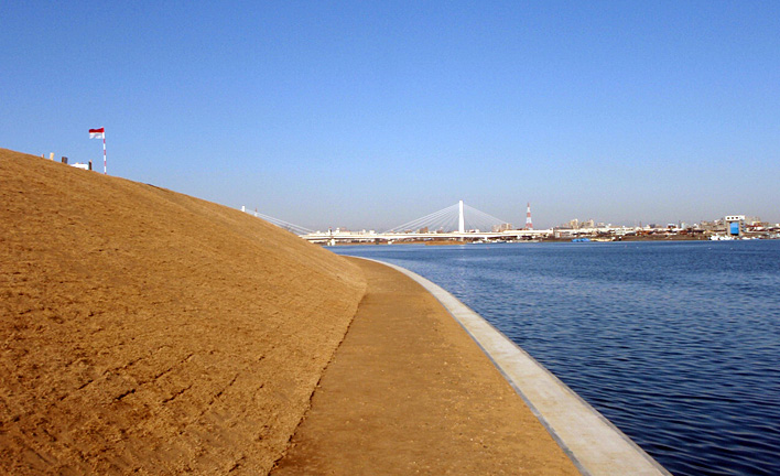 殿町地区堤防整備工事 イメージ